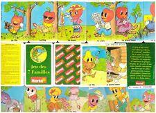 Rare COLLECTOR JEU DE CARTE des 7 FAMILLES PUZZLE Publicitaire HERTA Neuf 1996