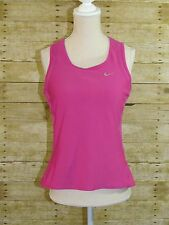NIKE FIT Women's Athletic Sport Wear Racer Back Tank Top Dri-Fit Magenta L - EUC