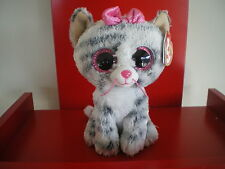 Ty Beanie Boo KIKI the  6 inch grey cat NWMT.  BRAND NEW JUST ARRIVED..