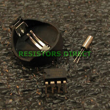 Real Time Clock RTC DIY Component Kit DS1307 32.768kHz Crystal Battery Holder