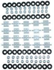 ☀️NEW! Lego 100 Pcs. Of Car Parts Wheels Tires Axles Rims Bulk Truck