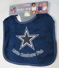 NFL NWT INFANT BABY BIB - BLUE- DALLAS COWBOYS - BLUE TRIM