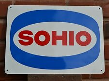 SOHIO Metal Gas Station Pump Sign Standard Oil Ohio Boron Ad logo Free Shipping