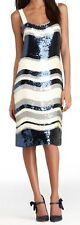 Nwt $795 Tory Burch EDNA Striped Sequin Tank Dress Top ~Ivory/Multi *M