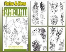FAIRIES & ELVES Tattoo Flash Design Book 66-Pages Cursive Writing Art Supply