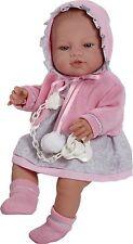 Muñeco bebe recien nacido vestido chaqueta rosa, 42 cm vinilo. Envío Urgente!!