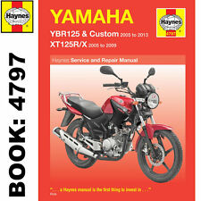 Yamaha YBR125 YTR125R YTR125X 2005-2013 Haynes Workshop Manual