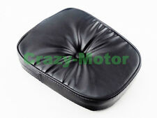 Motorcycle Black Synthetic Leather Rear Sissy Bar Backrest Cushion Pad Rest New