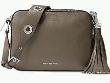 NWT MICHAEL Kors Leather Brooklyn Large Camera Bag Cinder tan FACTORY WRAPPED!