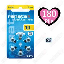 180 Pile Batterie protesi acustiche apparecchi acustici RENATA MARATONE ZA 10