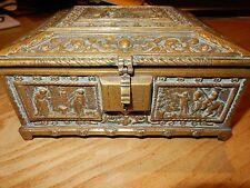 Late 1800s Heavy jewellrey BOX RELIQUIA BARA in ottone per ripristinare 18 x 15 cm