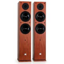 POWERFUL 2-WAY FLOOR STANDING SPEAKERS HIFI STEREO TOWER LOUDSPEAKERS 240W PAIR