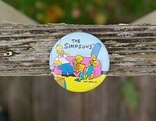 "The Simpsons Matt Groening 1 3/4"" Round Metal Pin Pinback Button Family Couch"