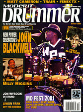MODERN DRUMMER magazine, Oct. 2001 • JOHN BLACKWELL / PRINCE • big cover story!