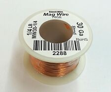 NEW 30 Gauge Insulated Magnet Wire, 1/4 Pound Roll (785' Approx. Length) 30AWG