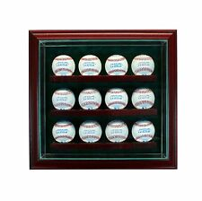 12 Baseball Glass Cabinet Display Case New UV  Box MLB FREE SHIPPING