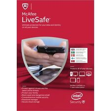 McAfee LiveSafe, LATEST 1 User - Unlimited Devices, 1 Year - NEW eCARD DOWNLOAD