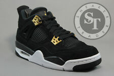 AIR JORDAN 4 IV RETRO BG 408452-032 ROYALTY IN HAND BLACK METALLIC GOLD SZ: 5.5Y