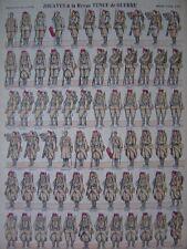 Image d'épinal numéro 212  ZOUAVES à la revue Tenue de Guerre Clairon Soldats