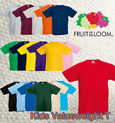 KINDER KIDS T-SHIRT FRUIT OF THE LOOM VALUEWEIGHT T GR.104-164 - 16 FARBEN