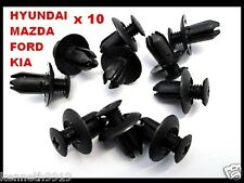 Mazda 323 Mazda 6 Push-Type Replacement Trim Black Plastic Clip Retainer T43