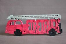 RED Firetruck Fire Truck Fireman Wooden Amish Toy  Puzzle NEW Figurine