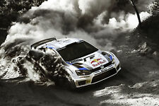 Poster A3 Rally Car Volkswagen Polo Racing 01