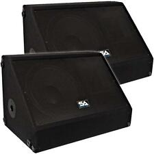 "Seismic Audio Pair 15"" Floor/Stage Monitors/Speakers ~ New 700 Watts"