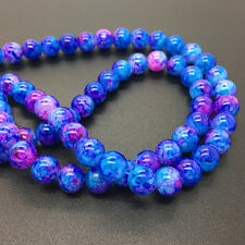 New 8mm 30Pcs Double Colors Glass Round Pearl Loose Beads Jewelry Making #8m58