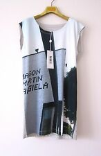 NWT ITALY MM6 by MAISON MARTIN MARGIELA WOMEN'S GRAPHIC T-SHIRT EASY FIT Sz-S