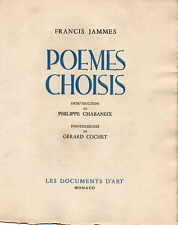 Francis Jammes Poèmes choisis illustrés par G. Cochet.2 suites,1 dessin,1 cuivre