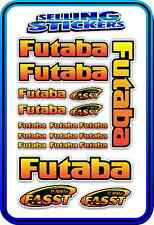 FUTABA SERVO RADIO RX TX 2.4G FLIGHT REMOTE CONTROL STICKERS FASST RED YELLOW B