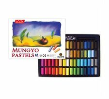 Non-Toxic Mungyo Soft Pastels 64 Color Square Type Smooth Touch Art Drawing