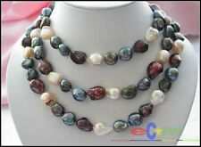 """p1610 50"""" 16MM multicolor BAROQUE FRESHWATER CULTURED PEARL NECKLACE"""