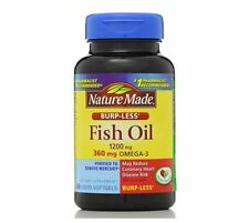 Nature Made Fish Oil, 1200 mg, Burp-Less, Liquid Softgels 60 ea