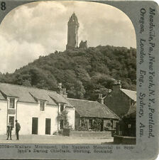 WALLACE MONUMENT NAT MEMORIAL TO SCOTLANDS DARING CHIEFTAIN STIRLING STEREOVIEW