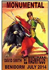 Spanish Bullfighter Personalised Reproduction Metal Sign Benidorm