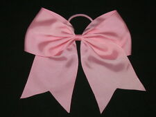 "NEW ""LIGHT PINK"" Cheer Bow Pony Tail 3 Inch Ribbon Girls Hair Bows Cheerleading"