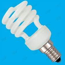 5x 14W Low Energy CFL Mini Spiral Light Bulbs; SES, E14