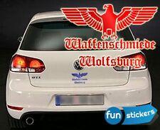 Waffenschmiede Wolfsburg Aufkleber / Sticker 15x10cm freie Farbwahl