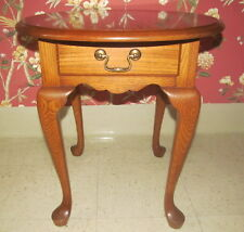Pennsylvania House Oak Oval Queen Anne End Table 24 1102