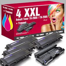4 XXL Toner für Brother TN-2005 & Trommel HL 2035
