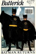 Butterick Batman Returns Boy's Costume Pattern 6377 Size S-L