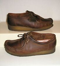 Clarks Originals Wallabee Women's Dark Brown Leather Low Ankle Boots Shoes 8.5 M