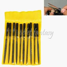 New Steel 10pc Needle File Set Files For Metal Glass Stone Jewelry Wood Carving