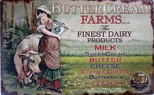 ButterCream Farms-Finest Dairy Products  Metal Sign