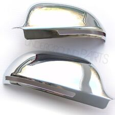 CHROME DOOR WING MIRROR COVERS CASES CUPS KIT AUDI A3 A4 A6 SLINE QUATTRO 08-10