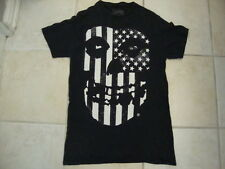 Misfits Punk Rock Danzig Skeleton American Flag Art Graphic Black T Shirt S