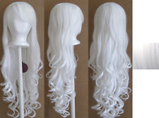 29'' Long Curly w/ Long Bangs Snow White Cosplay Wig NEW