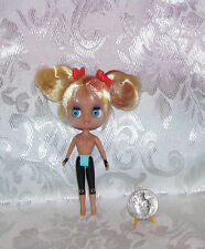LITTLEST PET SHOP HASBRO NUDE BLYTHE DOLL #B13 BLONDE PIGTAILS NEW  2010 *LOOSE*